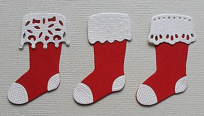 9 x Assembled Christmas Stockings,  Die Cuts,  Embellishments,  Card Making