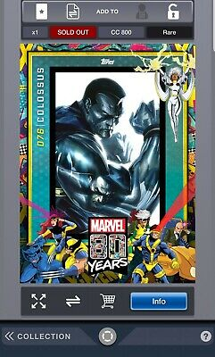 Topps Marvel Collect Card Trader 80 Years Celebration Wave 8 Colossus