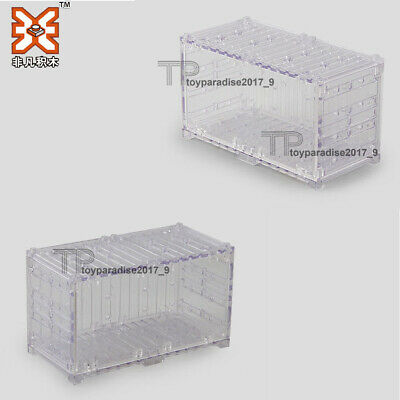 Grey Cargo Shipping Container Compatible With Toy Brick Building Blocks