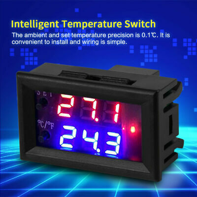 DC12V Digital Regulador de Temperatura Termostato Mikrocomputer Interruptor Con