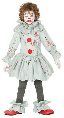 Boys Fancy Dress Crazy Clown Kids Costume Outfit Ages 5-12 Cosplay UK