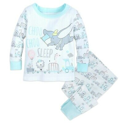 Disney Store Dumbo Elephant PJ PALS Pajamas for Baby Size 6 9 12 Months New