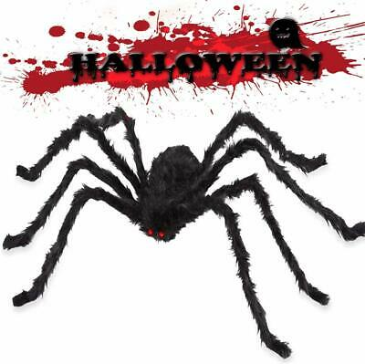 Halloween Spider Decorations Giant 59 inch Scary Hairy Realistic Spiders Props