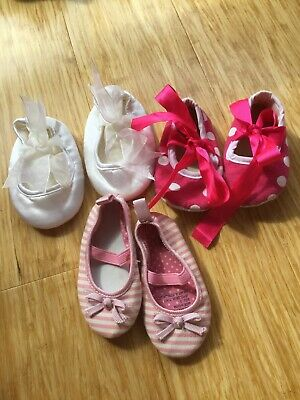 Pink And White 3 Pairs Of baby Girl Shoes