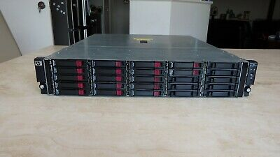 "HP D2700 SAS AJ840 25 2.5"" 6GB/s SAS disk shelf with 17 600GB HDD mounting rails"