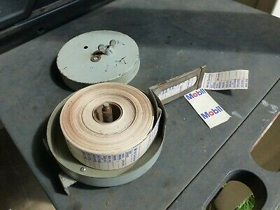 Cool Wall Mount Tin Mobil Oil Change Label Dispenser With Almost A Full Roll