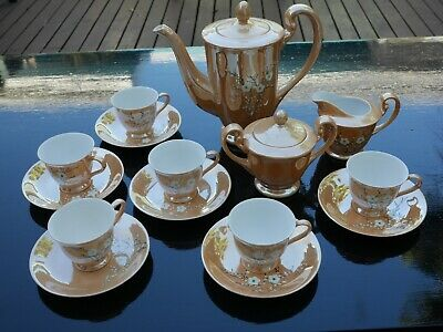 Vintage China Tea Set. Gold Colour. Excellent Condition.