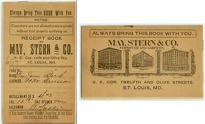 1907 St Louis Missouri May Stern Co credit charge booklet 12th & Olive SE Corner