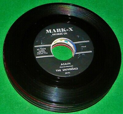 THE UNIVERSALS: Again / Teenage Love 45 (1st  Issue nice copy) rare EX/-