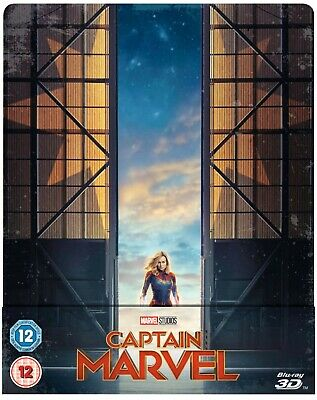 Marvel's Captain Marvel 3D+2D Blu-Ray Uk Steelbook Zavvi Preorder