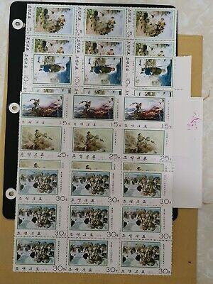 KOREA 1974 PAINTING 3rd SERIES  SET  IN BLK/9,MNH WITHOUT GUM AS ISSUE.