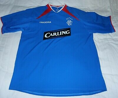 Glasgow Rangers FC Men's Football Home Top Carling 2003-05 Large