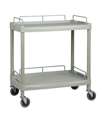 Two Shelf Durable ABS Utility Trolley wide