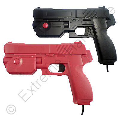 2 x Pack Ultimarc AimTrak Red/Black Arcade Light Guns with Line of Sight Aiming