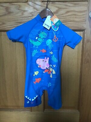 Boys BNWY Peppa Pig Sun Protection Swimsuit UPF 50+ Age 3-4 Years