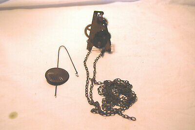 Antique Single Train Weight Driven Cuckoo Movement With Metal Pendulum (MV11)