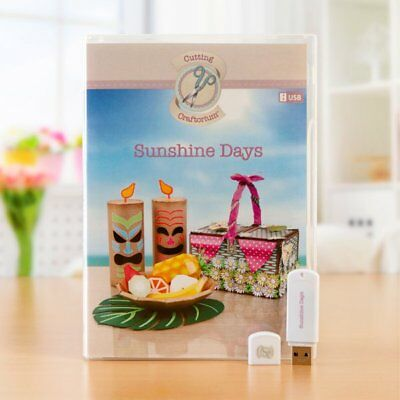 Sunshine Days - Cutting Craftorium Usb + Booklet + Background Paper