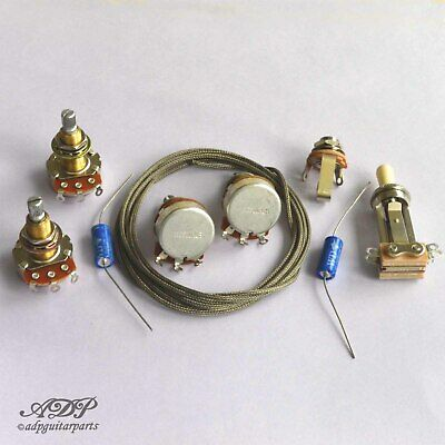 Wiring Kit for Gibson® Les Paul® Gaucher Composants non cables CTRL LP Lefty PIO