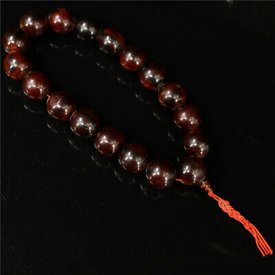 """1.18"""" Collection Chinese Exquisite Ox horn Handmade 18 beads Ox horn Bracelet"""