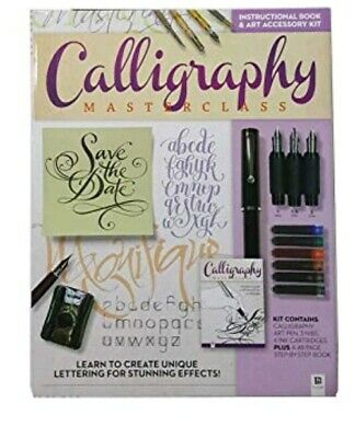 NIB CALLIGRAPHY Master Class Book Kit w/ PEN NIBS CARTRIDGES BOOK by HINKLER