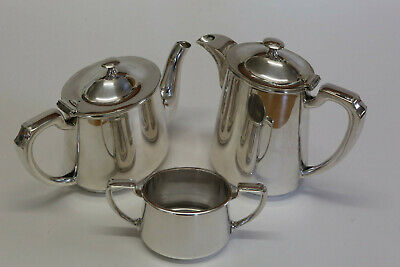 """Walker & Hall silver plated """"Hotelware"""" 3 piece tea service"""