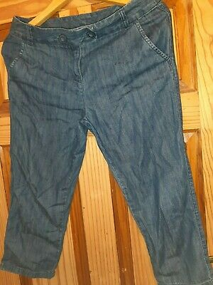 Next Girls Capri Denim Trousers Age 13