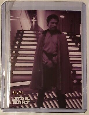 Topps Star Wars Black & White Lando Calrissian Purple SSP 104 ESB Card SP 25/25