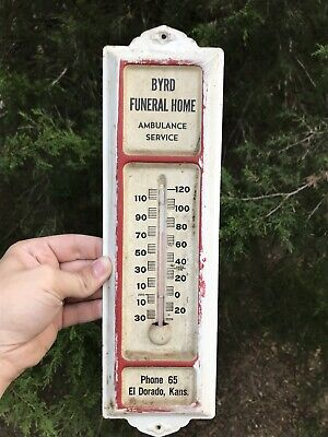 2 NEW NOS Early Advertising Thermometer Chipak Funeral Home SCRANTON PA VINTAGE