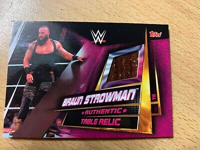 Slam Attax Universe event Used Table Relic card Braun Strowman