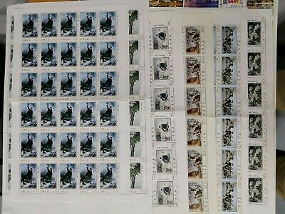 Korea 1975 Modern Paintings 4Th Series In Complete Sheets Vf Minh.