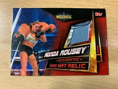 Slam Attax Universe Ronda Rousey Authentic Ring Mat Relic card