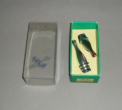 Metal Wine Bottle Stoppers x2 Tip Tap Italian Design IDD Great Gift BOXED EXC