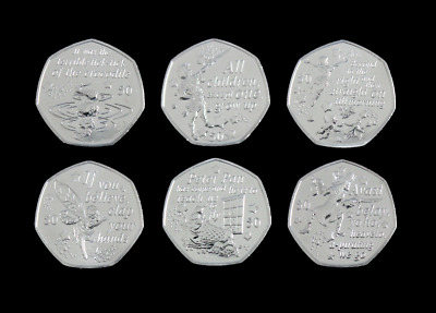 Isle of Man 50p Peter Pan 2019 6 Coin Set Choose Your Coin Fifty Pence