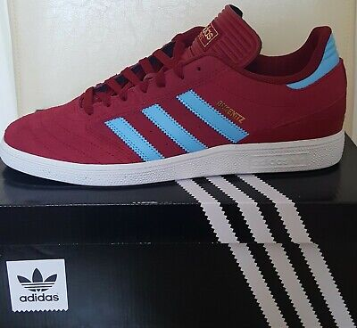 adidas 350 claret and blue trainers