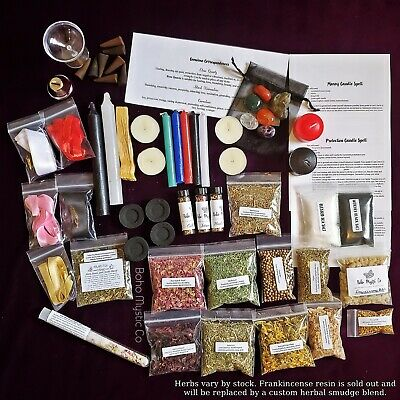 Wicca Starter Kit wicca altar kit witchcraft wicca herbs spell candles pagan