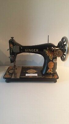 Antique 1911 Singer Sewing Machine Beautiful Decorated Unknown Working Condition
