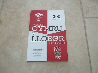 Wales v England Saturday 17th August  2019 Match Programme