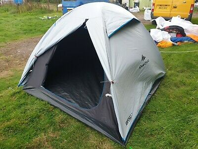 Quechua Arpenaz FRESH AND BLACK 3 man thre person berth small camping dome tent