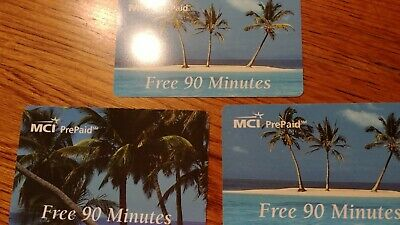 collector phone cards three from MCI free 90 minutes probably expired