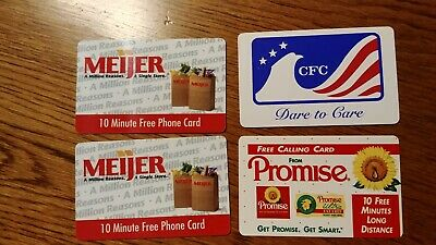 collector phone cards from Meijer, CFC, Promise expired