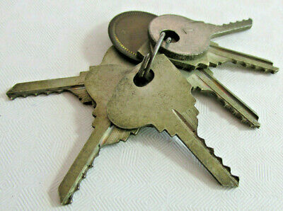 Vintage set of 6 HURD Ford Depth Keys, Numbered, Tag Marked Hurd, Locksmith Keys