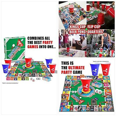 Fun Drinking Games for Adults /& Game Night Party DRINK-A-PALOOZA Board Game