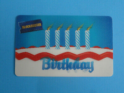 Blockbuster Video Gift Card Happy Birthday Lenticular 2007 -(No Value On Card)