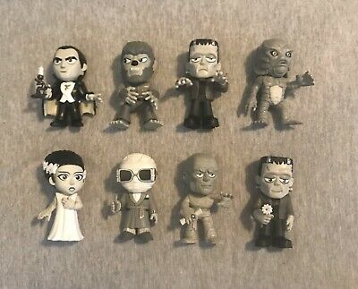 Funko Mystery Minis Universal Monsters Walgreens Exclusive B&W Lot Of 8