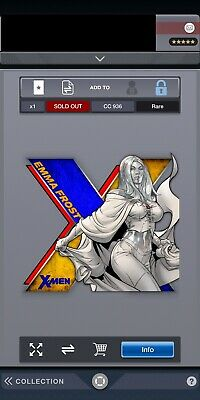 Topps Marvel Collect Digital X-Men Die cut Wave 2 With Award