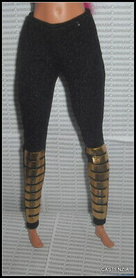 BOTTOM MATTEL BARBIE DOLL 1 MODERN CIRCLE BLACK /& GOLD TROUSER PANTS  ACCESSORY