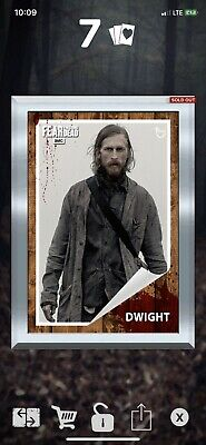 Topps The Walking Dead Digital Card trader Dwight  Silver Gilded 2CC (2 COUNT!)