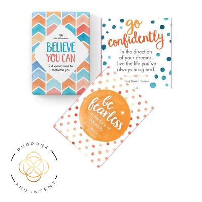 Positive Affirmation Cards Believe You Can  The Power of Positive Thinking