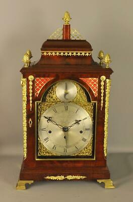 FINE MAHOGANY FUSEE VERGE BRACKET CLOCK  - John Taylor , London