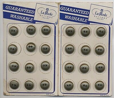 24 Vintage Olive Green Buttons, 9/16 crafts, sewing craft,